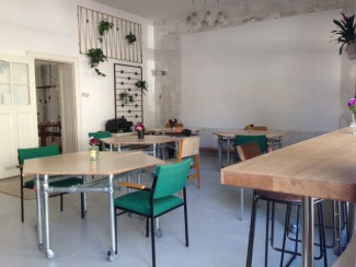 Co-Working und Co-Living mit industriellem Charme