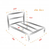 Bettgestell Bausatz - KING SIZE II